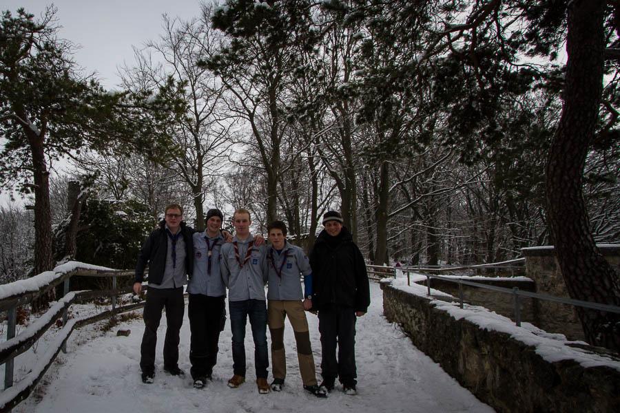 Burgruine im Schnee Peter Neubauer