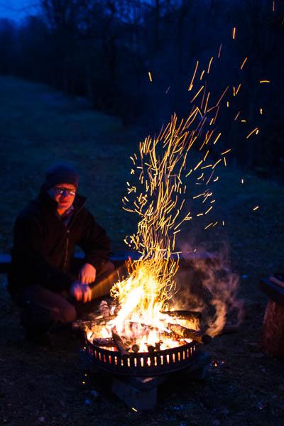 Am warmen Feuer in Affaltatal Peter Neubauer
